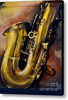 Saxophone Canvas Print / Canvas Art By Urban Artful Jazz, Canvas Art, Canvas Prints, Saxophone, Art For Sale, Les Oeuvres, Graffiti, Framed Prints, Urban
