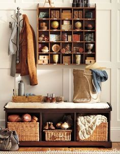 Build a Cubby Organizer Pottery Barn Inspired Knock-Off by Between Naps on the Porch.