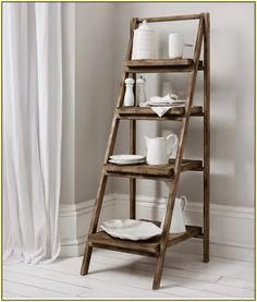 Storage ideas for Kitchen..... Ladder Shelf