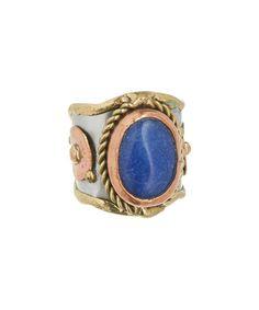 Blue Onyx & Copper Nishith Ring #zulily #zulilyfinds
