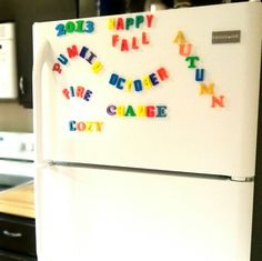 Make themed words with magnets.