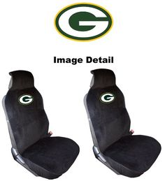 Green Bay Packers Car Truck SUV Low Back Bucket Seat Covers - PAIR. For product info go to:  https://www.caraccessoriesonlinemarket.com/green-bay-packers-car-truck-suv-low-back-bucket-seat-covers-pair/