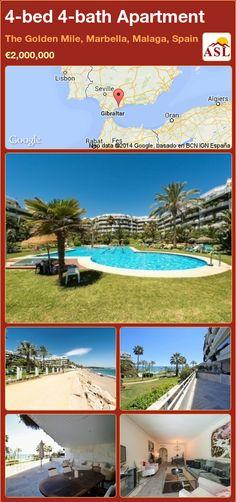 4-bed 4-bath Apartment in The Golden Mile, Marbella, Malaga, Spain ►€2,000,000 #PropertyForSaleInSpain