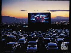 Charlton Heston As Moses In Motion Picture The Ten Commandments Shown At Drive Movie TheaterBy J R Eyerman