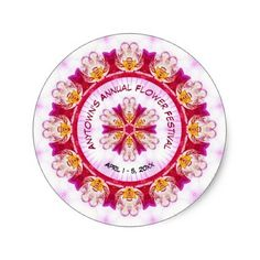 #floral - #Personalize Event Name - Purple Orchid Photography Classic Round Sticker