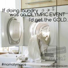 Undercover Mama #momolympics #laundry