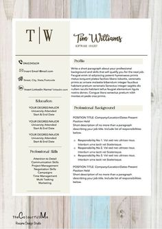 New Simple And Clean Resume Template Stand Out From The Crowd