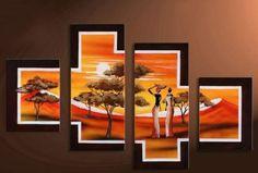 Afrykanki postaci obraz ręcznie malowany 120x80