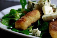 Schupfnudel-Feldsalat mit Speck und Roquefort