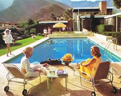 I wanna have a retro pool party complete with high waisted bikini bottoms
