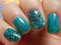 The Crumpet: New Crumpet - New Choices - Jamberry Nail Wraps SPOT ON - a clear leopard wrap on index SANTA FE - turquoise marble on ring