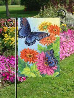 Peace Symbol Garden Flag Mini Rainbow Tie Dye Colorful By