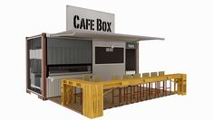 container restaurant - Buscar con Google Container Bar, Container Coffee Shop, Sea Container Homes, Container Office, Container House Design, Cafe Shop Design, Kiosk Design, Shop Interior Design, Modern Restaurant