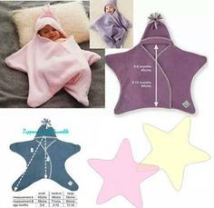 Sewing and learning: little baby star. Pattern and tutorial - Diy Kids Crafts Sewing For Kids, Baby Sewing, Diy For Kids, Sewing Tutorials, Sewing Projects, Sewing Patterns, Knitting Patterns, Knitting Stitches, Crochet Patterns