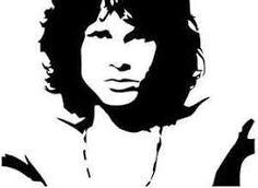 Jim Morrison The Doors Vinyl Decal/ Sticker Jim Morrison Beard, Jim Morrison Poster, The Doors Jim Morrison, How To Make Stencils, American Poets, Painting Tools, Guitar Painting, Rock Painting, Janis Joplin