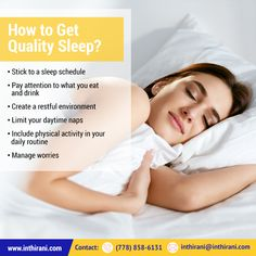 Tips to get Quality Sleep. Sleep Schedule, Physical Activities, Health And Wellness, Routine, Healing, How To Get, Tips, Health Fitness, Advice