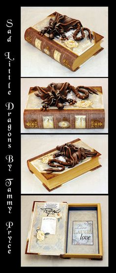 Sad Little Dragons By: Tammy Pryce on Etsy $45 #dragon #polymerclay #sculpture