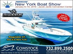 Something BIG in NYC... see the Regulator 41 @nyboatshow Show starts Wednesday #regulatormarine @regulatormarine #comstockyachtsales #offshorelife #boats #yachtworld #boatsdotcom #boats_dots_com #boattrader #wsj #wallstreetjournal #wallstreet #cnbc #espn #fishing #saltwaterfishing #saltwatersportsman #bostonwhaler #scoutboats #edgewaterboats #saltlife #inletville #gpotd by njboatguy
