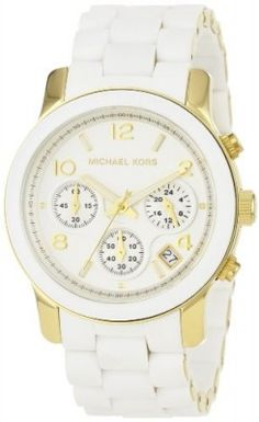 Relógio Michael Kors MK5145 Women's Two Tone Stainless Steel Quartz Chronograph White Dial Watch #relogio #MichaelKors