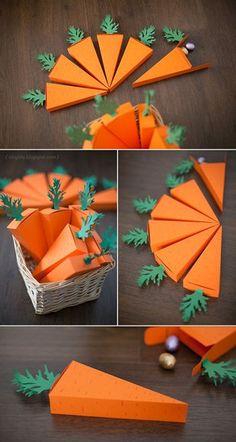 Làm hộp quà hình củ cà rốt ngộ nghĩnh