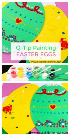 Q-Tip Painting Easter Egg Craft