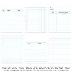 Live Free : Love Life Journal Cards No4 {CU}