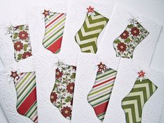 Christmas Stocking Note Cards Holiday cards by littledebskis