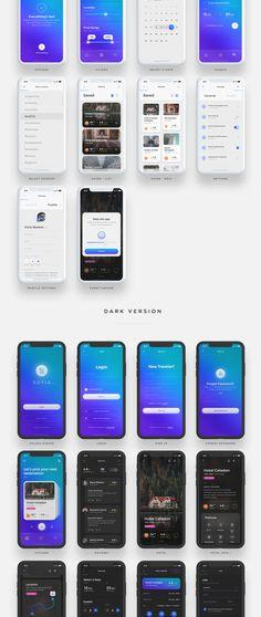 索菲亚移动UI工具包 - UI8上的UI工具包 Ui Design Mobile, App Ui Design, Android App Design, Android Ui, Email Design Inspiration, Beau Site, Ios Ui, Mobile App Ui, Site Internet