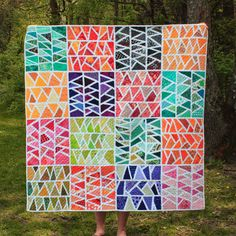 Color My World: Improv Herringbone: my Blogger's Quilt Festival Scrap Quilt Entry