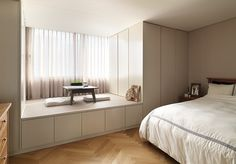 Modern Home Decor Bedroom Small Room Interior, Modern Home Interior Design, Interior Architecture, Bedroom Small, Studio Apartment Decorating, Apartment Interior, House Rooms, Home Decor Bedroom, Home And Living