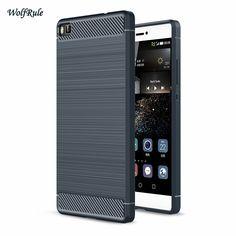 Untuk huawei p9 p8 case anti-mengetuk tpu disikat bisnis mobile coque capa telepon case untuk huawei p8 lite huawei p9 lite case [