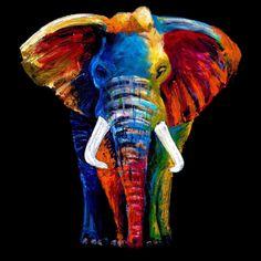 Metaverse Great elephant by Clara Summer Canvas Art - Wall Art - Macy's Elephant Poster, Elephant Art, Painting Prints, Art Prints, Painting Tips, Abstract Paintings, Oil Paintings, Painting Art, Watercolor Painting