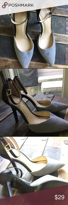 BCBGeneration pumps in black/ grey BCBG pumps in black and gray perfect for any occasion goes with almost every formal dress or pants or skirt BCBGeneration Shoes Heels