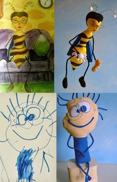 Company transforms children's drawings into real toys.  I would LOVE to send in some of our art.  That would be HILARIOUS.