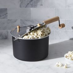 Stovetop Popcorn Popper Black | Crate and Barrel