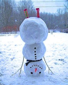 Snowman upside down -- it's time for winter fun!