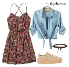 """Untitled #28"" by alifya-kurawar on Polyvore featuring Hollister Co., Puma and Humble Chic"