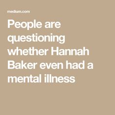 People are questioning whether Hannah Baker even had a mental illness
