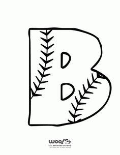 Printable Baseball Alphabet Letters Baseball Alphabet Letter B – Craft Jr. Alphabet Letters To Print, Alphabet Letter Crafts, Preschool Letters, Printable Letters, Letter Tracing, Kids Letters, Alphabet Fonts, Baseball Letters, Baseball Crafts