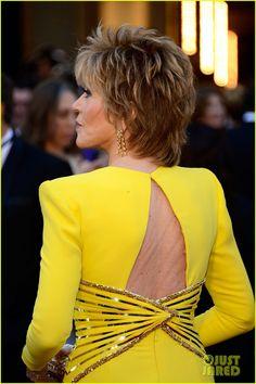 Side View of Highlights ~ Jane Fonda - Oscars 2013 Red Carpet Jane Fonda Hairstyles, Mom Hairstyles, Modern Hairstyles, Undercut Hairstyles, Short Hairstyles For Women, Japanese Hairstyles, Asian Hairstyles, Long Pixie, Short Wavy Hair