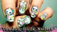 tutorial: how to do gloomy but cute voodoo doll nail art, via YouTube.