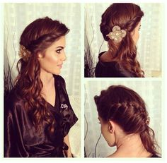 this angled french braid with the twisted edges is really beautiful too!! ill just need a couple tracks for length, but its lovely #weddinghair