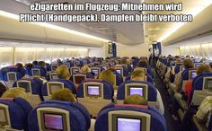 eZigaretten im Flugzeug: Mitnehmen wird Pflicht, Dampfen bleibt verboten #ezigaretten #vapen #dampfen #ecigs @moancovapors