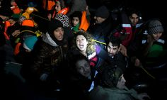 Refugees and migrants, many from Syria, still making journey from Turkey despite winter weather