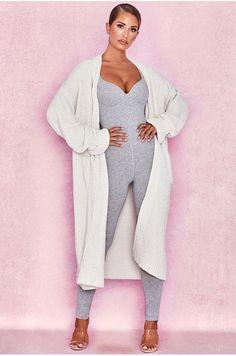 3b169c87b02 Celine Off White Chenille Slouchy Cardigan Loungewear Jumpsuit