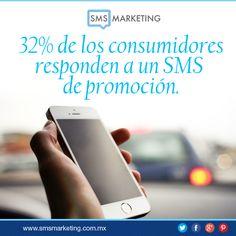#SabiasQue 32% de los consumidores responden a un SMS de promoción.