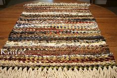 Twine Rag Rug - Country Mud Rug - Area Rug - Workhorse of a Rug  This is a sturdy, thick, heavy, absorbent fringed country rag rug! It combines country beauty with usability. It is tightly hand woven using thick medium to heavy weight fabrics and sisal (twine). Each end has tan colored 4 acrylic yarn fringe.  These mud rugs are great used in high traffic areas to absorb that mud/dirt and wetness before it is tracked into the house. Other high traffic areas that call for cushy comfort…