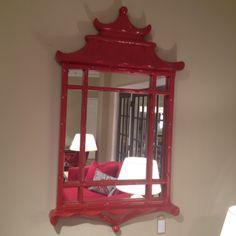Bunny Williams Pagoda Mirror at Wesley Hall.  Fabulous!!