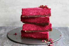 Raw Beetroot Cake with Walnut and Fig Crust Recipe. Earthy, rich, wholesome and utterly delicious cake that is vegan, gluten-free and paleo.
