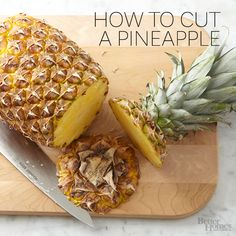 We love the flavor of fresh pineapple in almost any dish! http://www.bhg.com/recipes/how-to/cooking-basics/cleaning-and-cutting-pineapple/?socsrc=bhgpin072114cleaningandcuttingpineapple